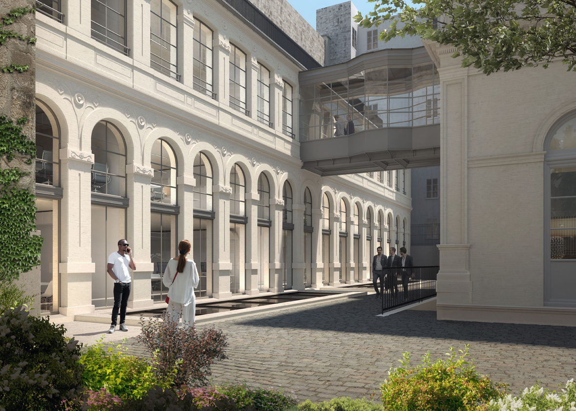 Redevelopment of office buildings and listed private mansion